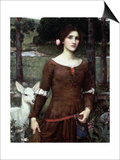 The Lady Clare, 1900 Print by John William Waterhouse