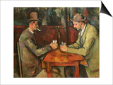 The Card Players, 1893-96 Poster by Paul Cézanne
