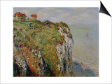 Cliff at Dieppe, 1882 Prints by Claude Monet