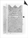 """Page from the """"Canon of Medicine"""" by Avicenna Prints"""