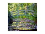 Lummelampi ja japanilainen silta, 1899 Juliste tekijänä Claude Monet
