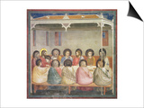 The Last Supper, circa 1305 Prints by  Giotto di Bondone