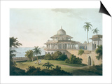 Chalees Satoon, Fort of Allahabad, River Jumna, c.1795 Prints by Thomas & William Daniell