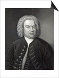 Portrait of Johann Sebastian Bach, German Composer (Engraving) Posters by Elias Gottleib Haussmann