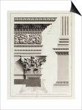 Elevation of Pedestal Entablature of the Arch at Tripoli Posters by James Bruce
