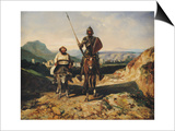 Don Quixote and Sancho Prints by Alexandre Gabriel Decamps