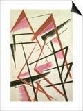Linear Construction, c.1921 Posters av Liubov Sergeevna Popova