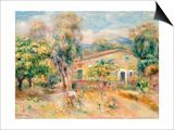 Collettes Farmhouse, Cagnes, 1910 Pósters por Pierre-Auguste Renoir