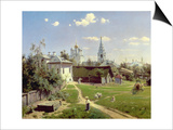 A Small Yard in Moscow, 1878 Art by Vasilij Dmitrievich Polenov