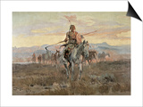 Stolen Horses, 1911 Prints by Charles Marion Russell