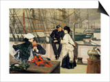 The Captain and the Mate, 1873 Prints by James Tissot