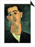 Portrait of Juan Gris, 1915 Prints by Amedeo Modigliani