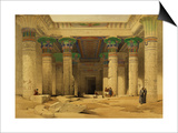 "Grand Portico of the Temple of Philae, Nubia, from ""Egypt and Nubia,"" Vol.1 Prints by David Roberts"