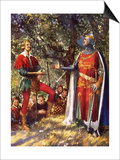 Robin Hood and Richard the Lionheart Prints by John Millar Watt