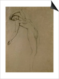 Study for 'Clyties of the Mist' (Chalk on Paper) Prints by Herbert James Draper