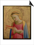 Virgin Annunciate, 1450-55 (Gold Leaf and Tempera on Wood Panel) (See also 139311) Posters by Fra Angelico