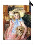 Sara and Her Dog, c.1901 Posters par Mary Cassatt