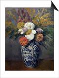 Dahlias, circa 1873 Posters by Paul Cézanne