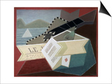 A Guitar Facing the Sea Print by Juan Gris