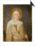 Five Saints, Detail of St. Clare Posters by Simone Martini