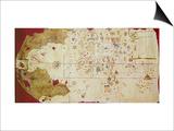 Mappa Mundi, 1502 Prints by Juan de la Cosa