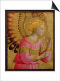 Annunciatory Angel, 1450-55 (Gold Leaf and Tempera on Wood Panel) (See also 139312) Prints by  Fra Angelico