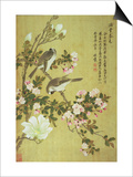 Crabapple, Magnolia and Baitou Birds Posters by Ma Yuanyu