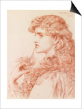 Proud Maisie, 1903 (Pencil and Red Chalk on Paper) Posters by Anthony Frederick Augustus Sandys