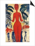 Standing Nude, 1913 (Oil on Board) Prints by Amedeo Modigliani