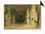 "Interior of the Temple of Abu Simbel, from ""Egypt and Nubia,"" Vol.1 Posters by David Roberts"