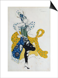 Sketch For the Ballet La Peri, by Paul Dukas Prints by Leon Bakst