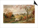 Autumn Landscape, Saugerties, 1886 Print by Jasper Francis Cropsey