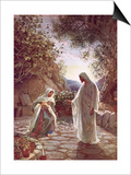 Jesus Revealing Himself to Mary Magdalene Prints by William Brassey Hole