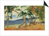 By the Seashore, Martinique, 1887 Prints by Paul Gauguin