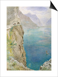 On the Italian Coast, 1896 (W/C on Paper) Posters by Harry Goodwin