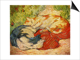 Cats, 1909-10 Art by Franz Marc