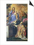 The Virgin Mary Appearing to St. Philip Neri Posters af Carlo Maratti