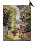 A Road in Louveciennes, 1883 Prints by Alfred Sisley