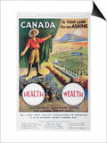 Poster Promoting Emigration to Canada, 1914 Prints