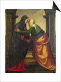 The Visitation of St. Elizabeth to the Virgin Mary Posters by Mariotto Albertinelli