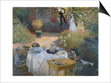 The Luncheon: Monet's Garden at Argenteuil, circa 1873 Print by Claude Monet