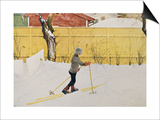 The Skier, circa 1909 Prints by Carl Larsson
