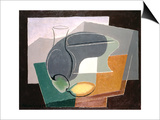 Fruit-Dish and Carafe, 1927 Prints by Juan Gris