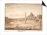 View of St. Peter's Basilica in the Vatican, Built on the Ruins of the Circus of Nero, 1833 Prints by Agostino Tofanelli