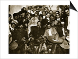 Pancho Villa in the Presidential Chair with Emiliano Zapata at His Side, Mexico City, 1914-5 Posters