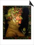 Summer, 1573 Plakater af Giuseppe Arcimboldo
