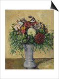 Bouquet of Flowers in a Vase, circa 1877 Posters by Paul Cézanne