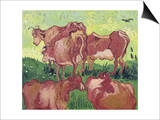 Cows, c.1890 Prints by Vincent van Gogh