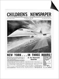Concorde, Front Page of 'The Children's Newspaper', November 1963 Print by  English School