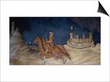 Der siegreiche Feldherr Guiddo Riccio da Fogliano Italiano Kunstdrucke von Simone Martini